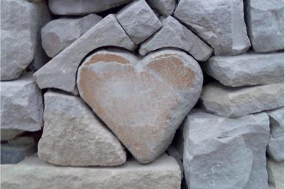 Quei sassi a forma di cuore
